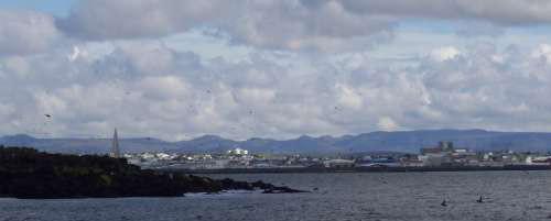 Reykjavik, von See aus